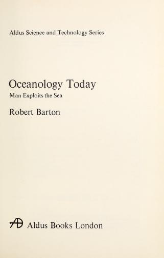 Oceanology Today by Barton